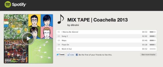 Coachella 2013 Road Trip Mix Tape